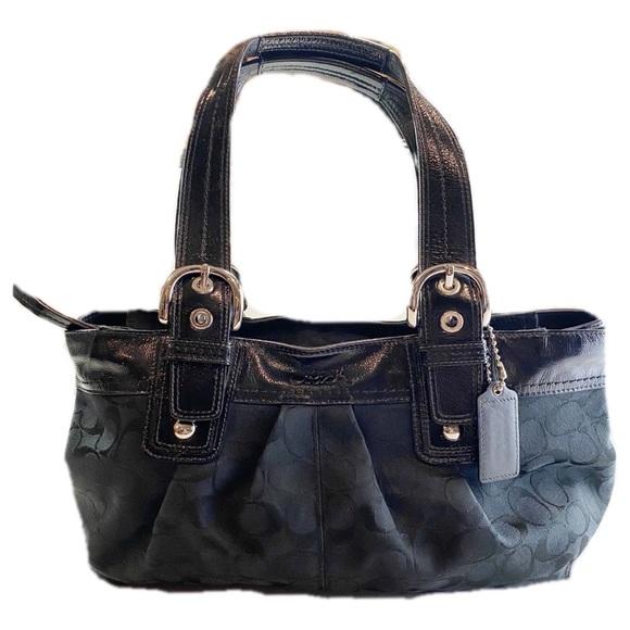 Coach Handbags - Coach Black on Black Carry All Shoulder Bag